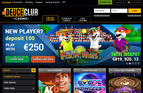 Deuce Club Casino Screenshot