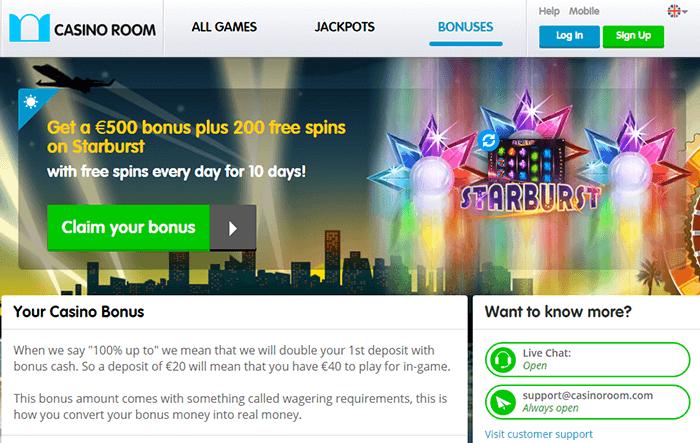 Casino Room Exclusive Bonus