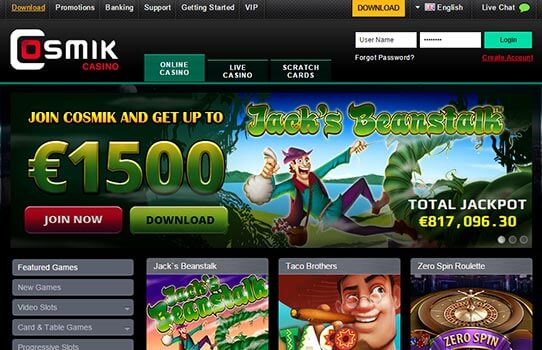 Cosmik Casino Review