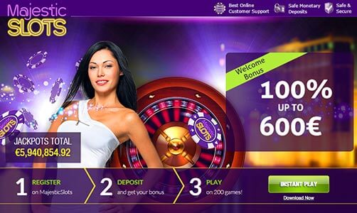 Majestic Slots Exclusive Bonus